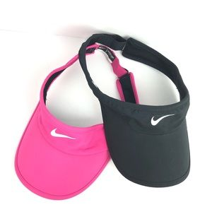 Nike Accessories - Nike | Set of 2 Pink & Black DriFit Active Visor
